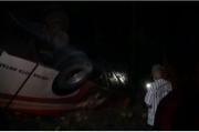 Bus Jurusan Yogyakarta-Surabaya Tergelincir ke Parit di Ngawi, 6 Penumpang Luka-luka