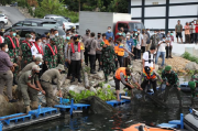 Kapolda Sumut Tinjau Penertiban 49 Keramba Apung di Danau Toba