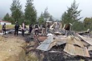 Rumah yang Dibakar OPM di Kampung Kimak Illaga Pusat Belajar Masyarakat