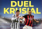 Susunan Pemain Juventus vs AC Milan: Ronaldo dan Ibra Starter