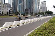 Polisi: Separator Jalur Sepeda dari Beton Sangat Berbahaya