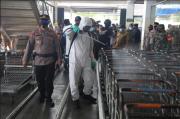 Jelang Lebaran, Kota Medan Disemprot Cairan Disinfektan Skala Besar dan Masif