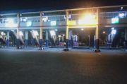 Malam Takbiran Terminal Purabaya Sepi, Jalur Bus Dipakai Main Bola