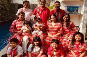 Kompaknya Raffi Ahmad dan Keluarga Rayakan Lebaran dengan Baju Senada