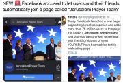 Teknologi Bikinan Yahudi Paksa Pengguna Facebook Doakan Israel
