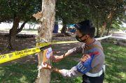 Bangka Tengah Zona Oranye, Petugas Gabungan Pasang Garis Polisi di Tempat Wisata