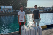 Satres Narkoba Polres Kepulauan Talaud Sita Ratusan Liter Miras di Pelabuhan Melonguane