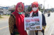 Gadis-gadis Cantik Aceh Berlukis Bendera Palestina di Wajah, Galang Dana di Pijay