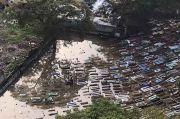 Hujan Deras, TPU Kober Pedongkelan Terendam Banjir