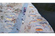 Imbas Tsunami COVID-19 di India, Puluhan Jenazah Terdampar di Sungai Gangga