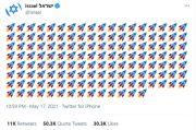 Posting Emoji Roket Tuk Raih Simpati, Akun Twitter Israel Malah Tuai Kecaman