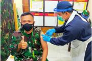 Prajurit dan Persit Yonif R 641/Bru Sukseskan Program Vaksinasi Nasional