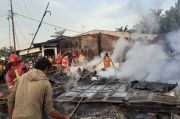 Simalungun Gempar, Minggu Pagi Kobaran Api Melalap Pemukiman Penduduk Hutabayu Raja