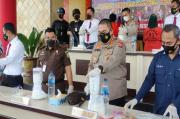 Polrestabes Palembang Blender Ratusan Butir Pil Ektasi dan Sabu