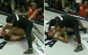 MMA Gempar, Wasit Cekik Petarung MMA saat Pertarungan