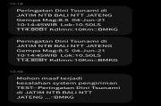 Gempar SMS Gempa M 8,5 yang Mengakibatkan Tsunami, Ini Penjelasan BMKG