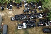 Polisi Sita 325 Sepeda Motor dan 41 Mobil Bodong di Sebuah Gudang di Pati
