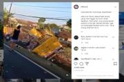 Mengerikan, Truk Tronton Bermuatan Penuh Minuman Seruduk 4 Orang di Wonosobo