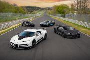 Bugatti Serbu Sirkuit Nurburgring dengan Total Mobil Seharga Rp344,7 Miliar