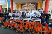 Selama Sebulan, Polrestabes Palembang Tangkap 59 Pelaku Kejahatan 3C