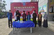 BNNP Banten Musnahkan Setengah Kilogram Sabu Jaringan Aceh