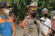 Polisi Tebalkan Personel Selama Uji Coba Lintasan Road Bike