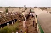 Dua Kereta Api Tabrakan Dahsyat, 25 Orang Tewas, Puluhan Luka