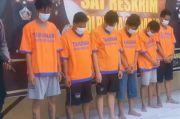 Dibekuk, Ini Penampakan 6 Preman Pengeroyok Anggota TNI AL di Terminal Bungurasih