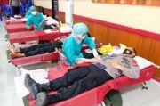 200 Personel Polres Gowa Sumbang Darah Jelang Hari Bhayangkara