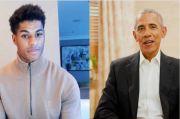 Dipuji Obama, Rashford: Senang Bicara dengan Orang Pintar