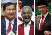 Prabowo, Ganjar dan Anies Masih Kokoh di Tiga Besar Capres 2024