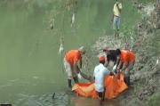 Gempar, Mayat Pria Ditemukan Mengapung di Sungai Lusi Grobongan