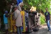 Angkut Anak-anak, Mobil Odong-odong Terguling di Cimahi, 14 Penumpang Terluka