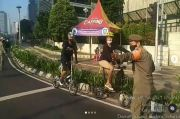 Warganet Heran Sepeda Nggak Dikandangin saat Melintasi Sudirman-Thamrin, padahal PPKM Darurat