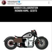 Keren! Ini Desain Motor Listrik Bobber Style Rancangan Ridwan Kamil