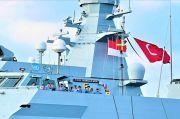 Keren, Bendera Merah Putih Berkibar di Kapal Perang Turki