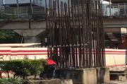 Terlalu! Komplotan Pencuri Pereteli Tiang Besi Monorel di Rasuna Said Kuningan