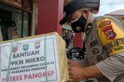 Polres Pangkep Salurkan Ratusan Paket Sembako untuk Warga
