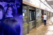 Horornya Kereta Bawah Tanah China Kebanjiran, 12 Orang Tewas