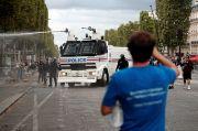 Demo Tolak Lockdown dan Kewajiban Vaksinasi di Prancis Berakhir Ricuh