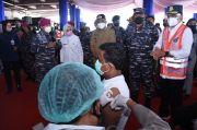 Korps Marinir TNI AL Bersama Kemenhub Gelar Vaksinasi di Pelabuhan Merak Banten