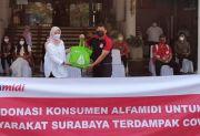 Bantu Masyarakat Terdampak COVID-19, Alfamidi Donasikan 100 Paket Sembako