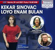 Kekar Sinovac Loyo Enam Bulan, Simak Berita Selengkapnya di iNews Room Kamis Pukul 18.00 WIB
