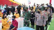 Dihadiri Panglima TNI dan Kapolri, Jasa Raharja Bekerja Sama Polda Jateng Gelar Program Vaksinasi Merdeka Candi