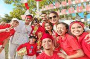 Pemain Ikatan Cinta Rayakan HUT ke-76 RI di Lokasi Syuting, Kompak Banget!