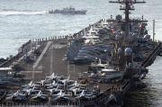 Tak Hanya Kapal Perang, Kapal Induk AS Juga Bermanuver di Laut China Selatan