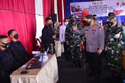 Vaksinasi Serentak 31 Titik di Sumut, Kapolri Pastikan Target Presiden Tercapai