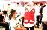Bupati Indah Buka Serbuan Vaksinasi Pemuda di Markas PMI Lutra