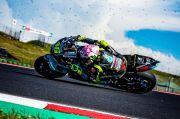Tercecer di Belakang, Rossi Frustrasi Terjatuh di Misano