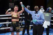 Pukul KO Musuhnya, Hyun Mi Choi Pertahankan Sabuk Juara WBA